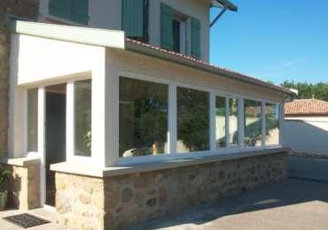 Véranda béton + Portes & fenêtres PVC