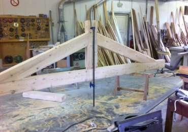 Charpente en fabrique à l'atelier