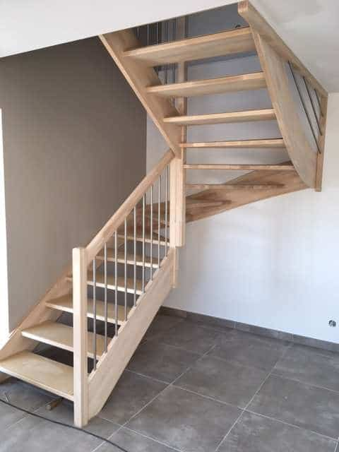 Escalier bois - Menuiserie Xavier SEUX