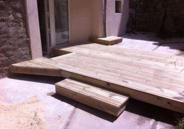 Plancher bois pour une terrasse