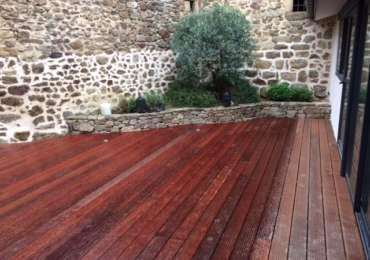 Terrasse bois finie