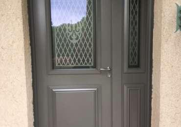 Porte d'entrée en dépose totale aluminium 80 mm d'épaisseur