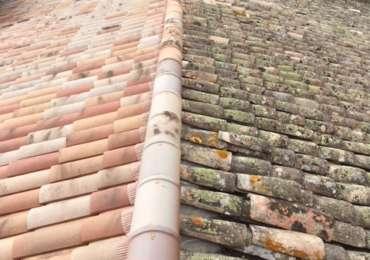 Pose charpente et toit avant/après
