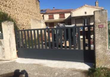 Portail clôture coulissant